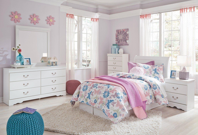 Best Ashley Anarasia 5Pc Full Sleigh Headboard Bedroom Set With 400 x 300