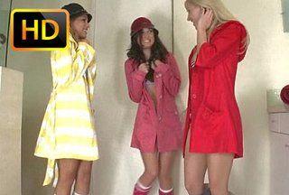 Three Black Teen Lesbians Showering Justporno Tv
