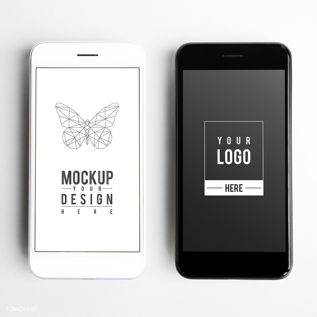 Premium Mobile Phone Screen Mockup Template Free Image By Rawpixel Com Ake Mockup Template Mockup Template Free Phone