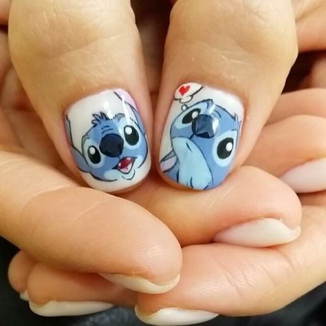 50 trendy nails art disney stitch en 2020  diseños de