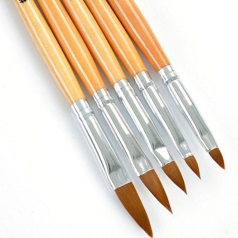 Nail Art Tools 6 Pcs Acrylic Uv Gel Kolinsky Hair Acrylic Nail Brush Pen 6 Pcs Nail Brush For More Informat Nail Brushes Nail Art Tools Acrylic Nail Brush