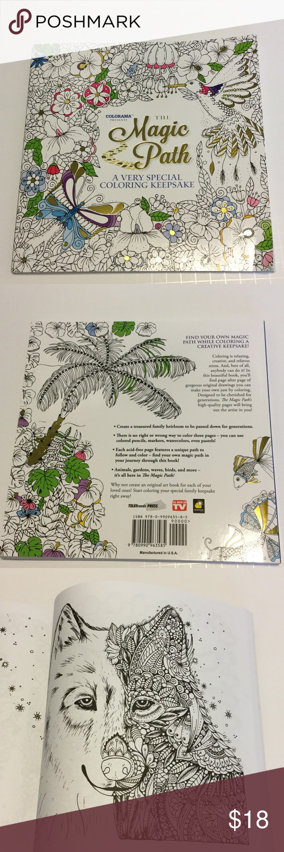 Colorarama The Magic Path Coloring Book A Very Special Coloring
