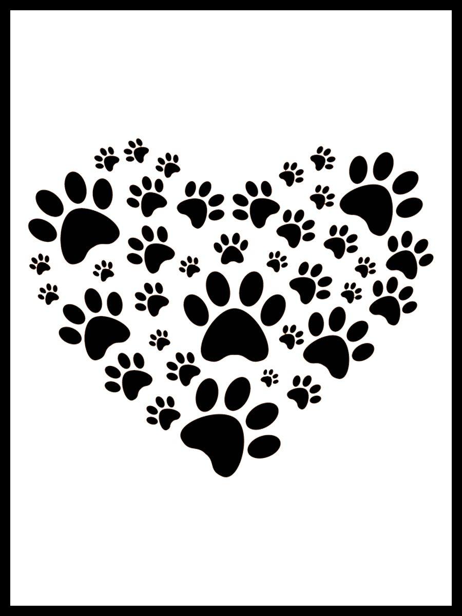 Dierendag 3x4 2 Freebie In The Pocket Design Honden Silhouet Dieren Hondenpoot Tatoeages