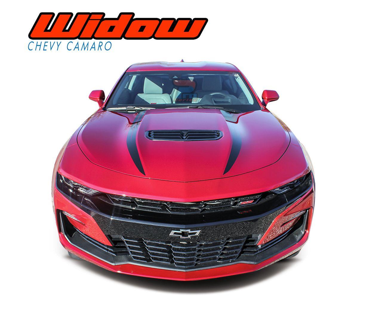 Widow 2019 2020 Chevy Camaro Spider Stripes Hood Spear Decals Vinyl Graphics Kit Chevy Camaro Camaro Vinyl Graphics