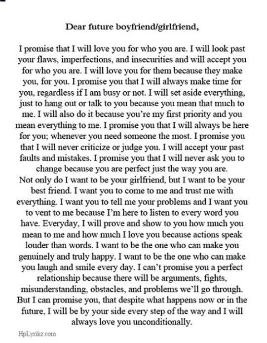 Dear future boyfriend/girlfriend | Those cute texts c: | Boyfriend