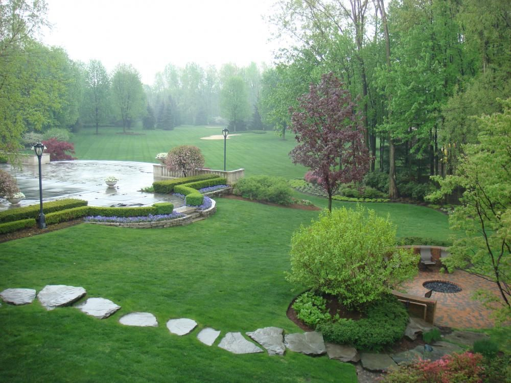 residential landscape ideas green lawn in landscaped formal garden landscaping pinterest gardens care plans and landscaping