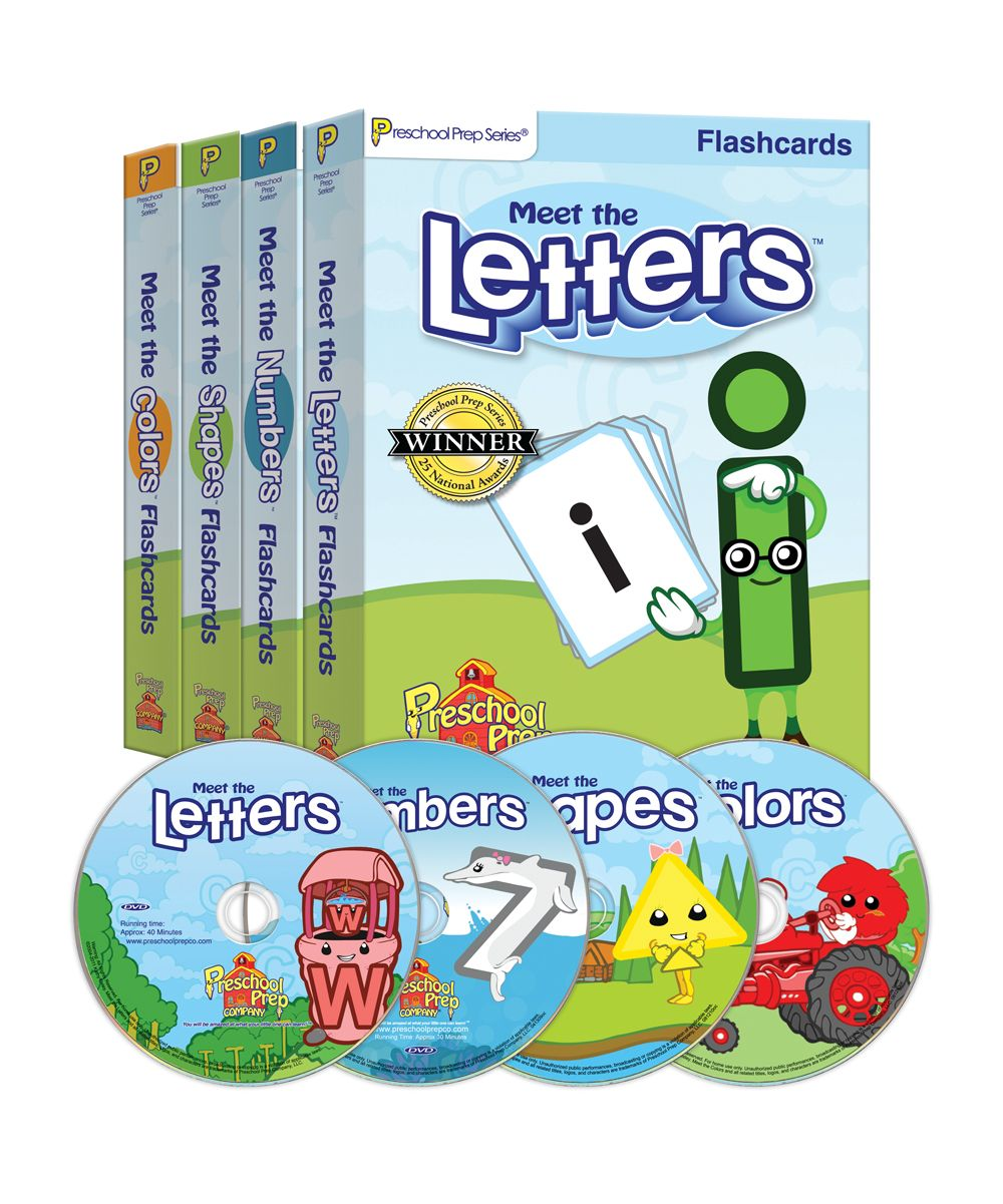 Letters, Numbers, Shapes & Colors DVD & Flash Card Set | Encouraging ...