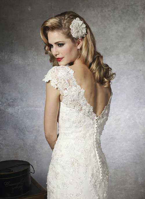 25 Wedding Long Hairstyles Vintage Wedding Hair Retro Wedding
