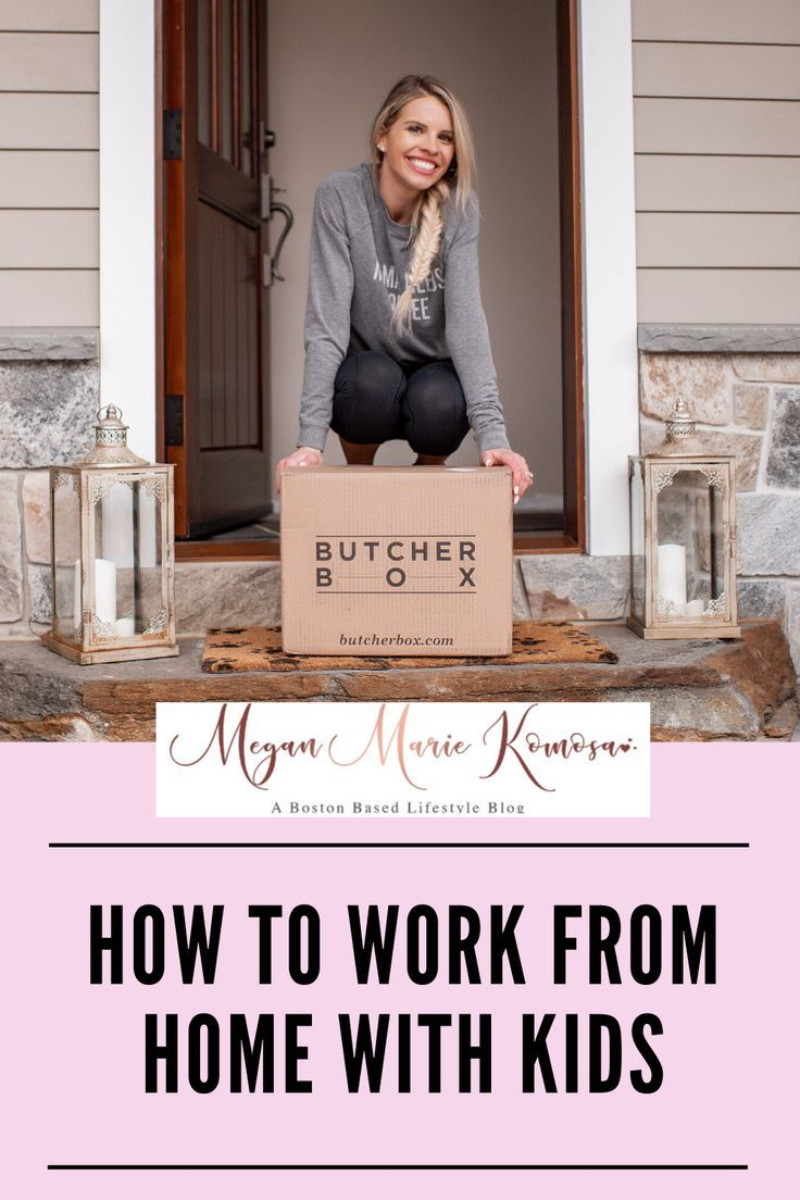 Click here to read about how to work from home with kids on Megan Marie Komosa! Work from home tips...