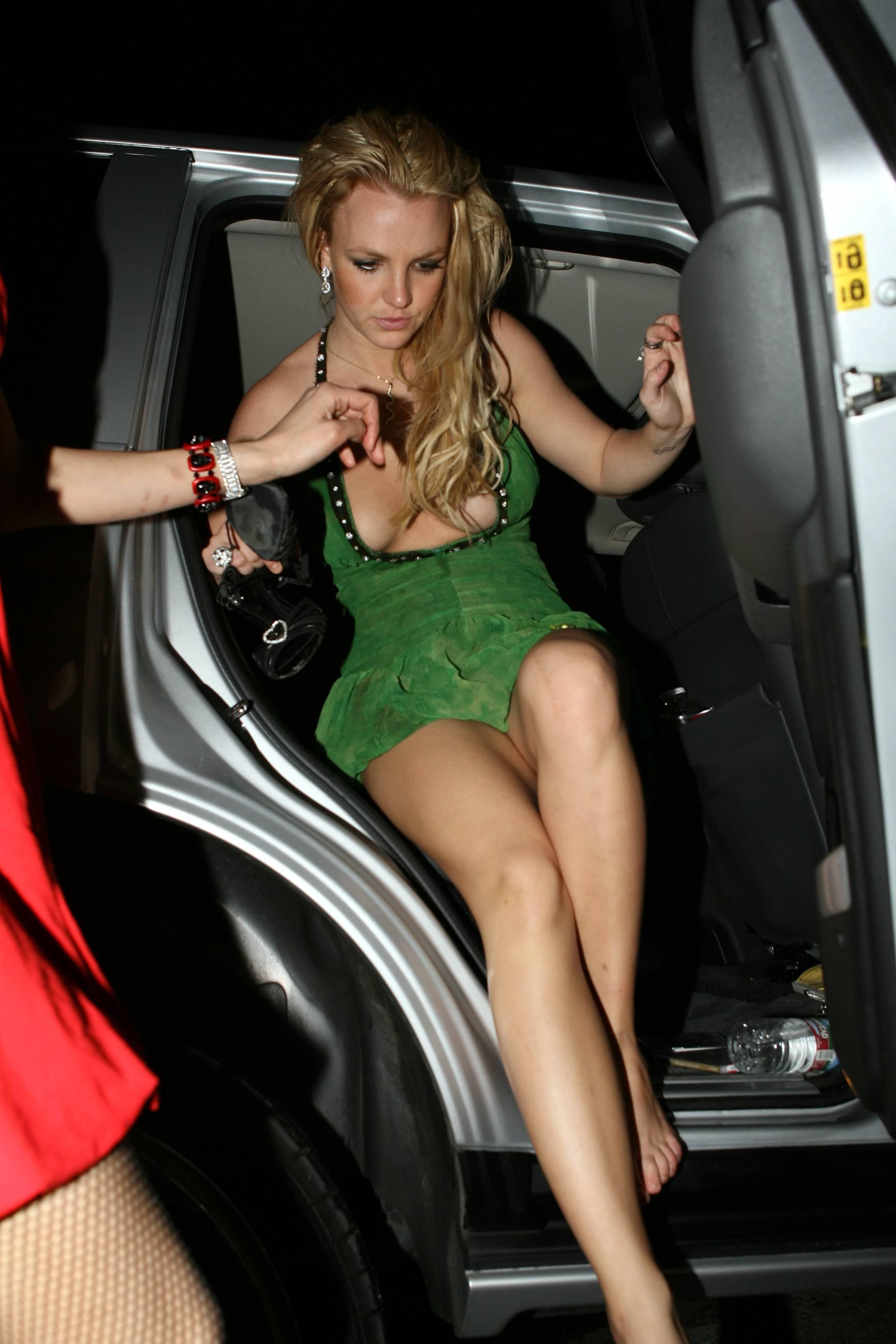 Upskirt spear Britany picture