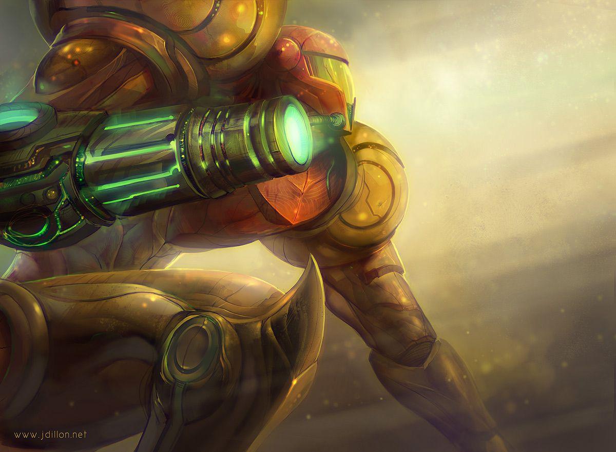 Metroid samus aran zero suit tentacle