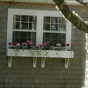 Window boxes for garage
