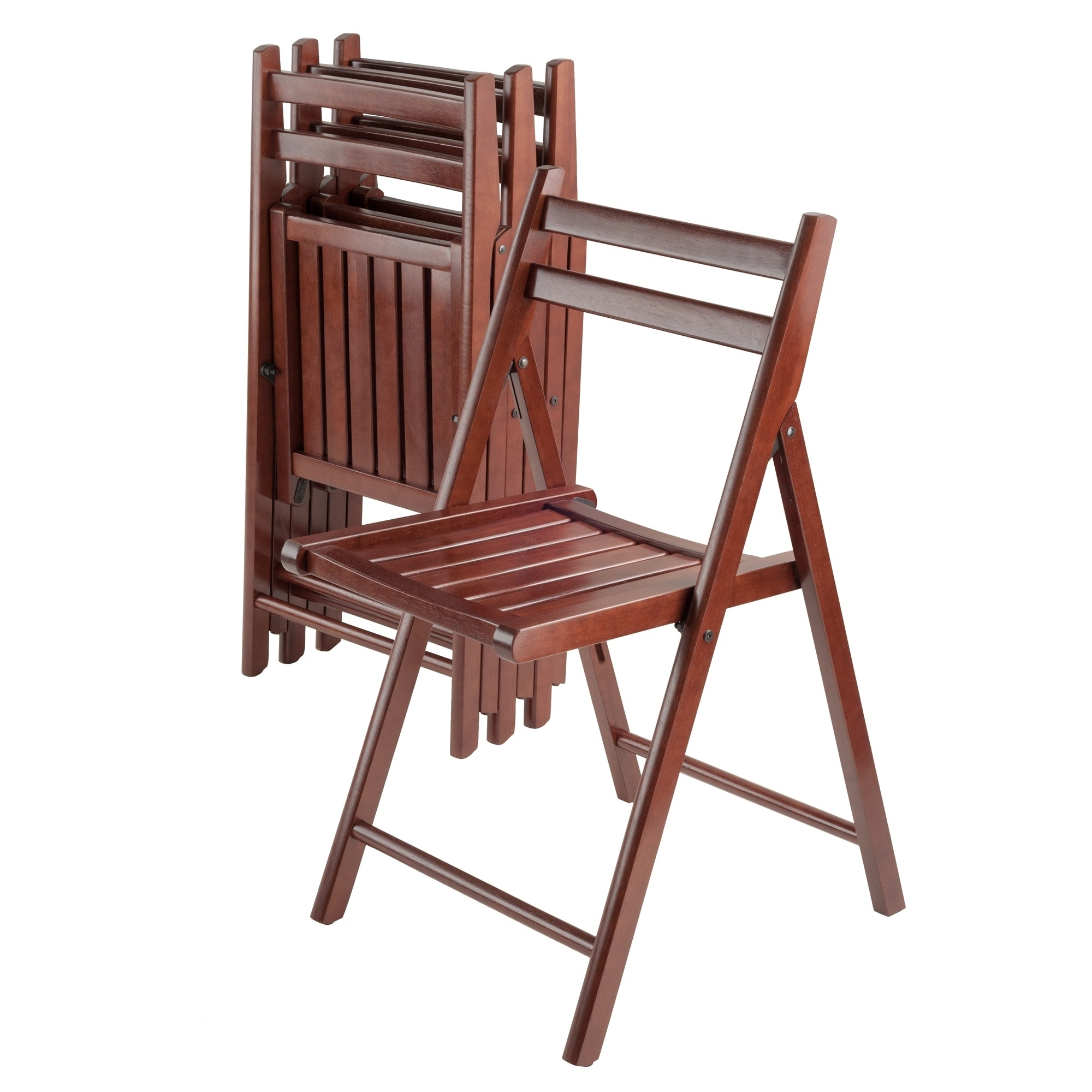 Schaukelbank Ikea Robin 4 Pc Folding Chair Set Walnut Brown Winsome Wood