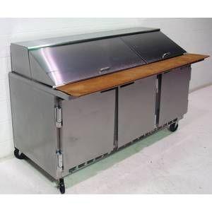 Used Beverage Air Salad Sandwich Prep Cooler 3 Door 72in Sp72
