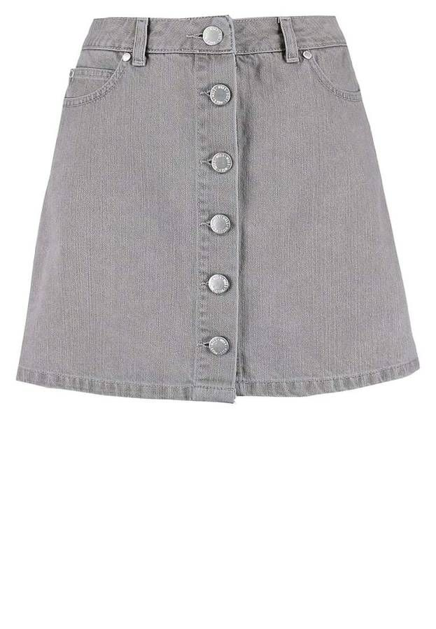 f475f2fb41fe Jupe en jean grise jupe en jean droite