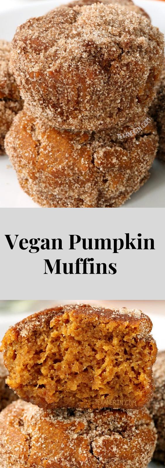 Vegan Pumpkin Muffins (gluten-free, whole wheat options) #pumpkinmuffins