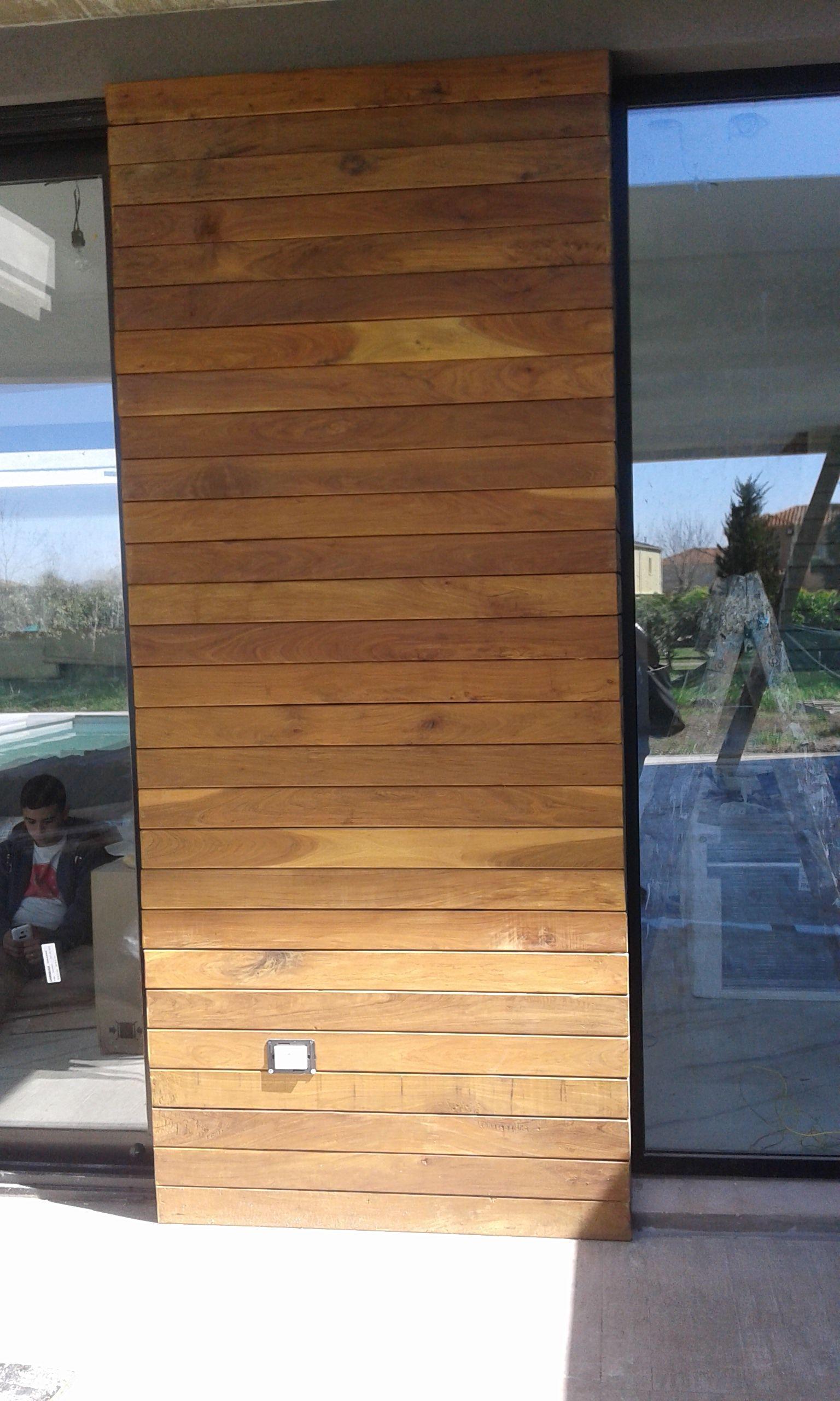 Revestimiento Pared Exterior Lapacho Madera Wood Pilar Www
