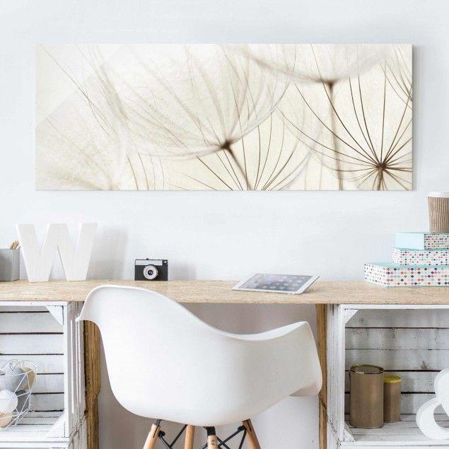 glasbild sanfte gr ser panorama quer blumenbild glas. Black Bedroom Furniture Sets. Home Design Ideas