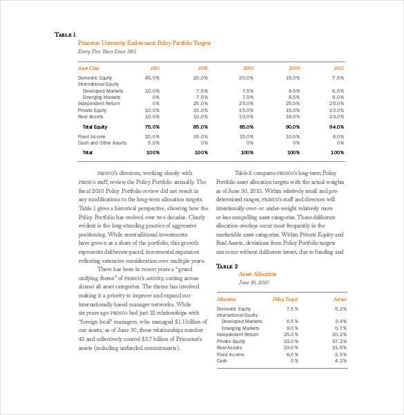 Treasurer Report Template   Free Sample Example Format