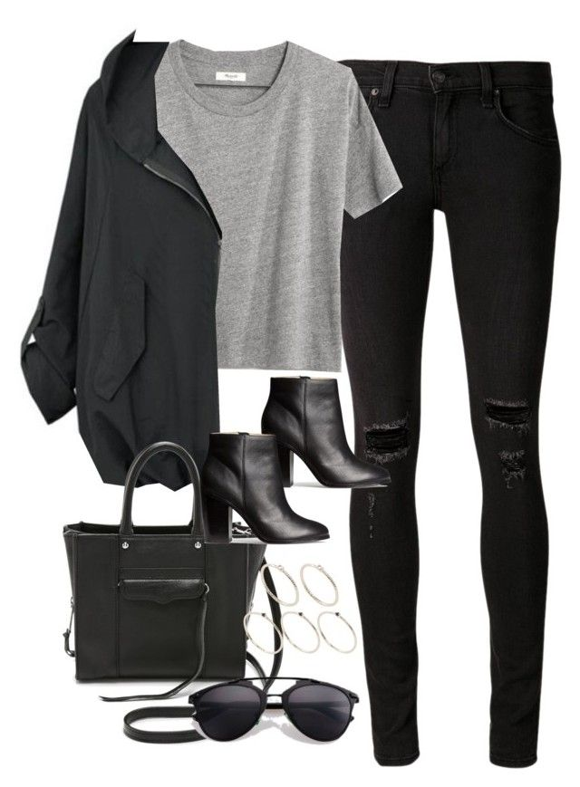 """""""Untitled #3513"""" by glitter-the-world ❤ liked on Polyvore featuring rag & bone/JEAN, Madewell, Rebecca Minkoff, H&M, Retrò and Pieces"""