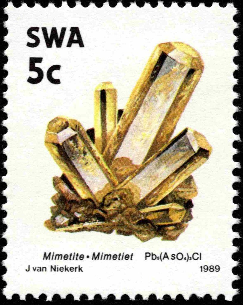 Stamp Mimetiet South West Africa Minerals Mi Na Sw 651 Sn Na Sw 628 Yt Na Sw 608 Africa Holiday West Africa Letter Stamps