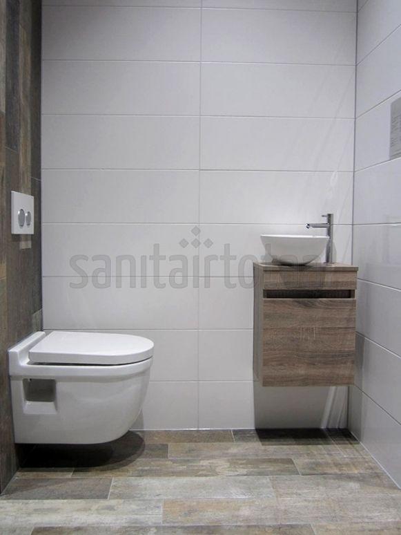 Landelijk badkamermeubel, hout, steigerhout meubel badkamer ...