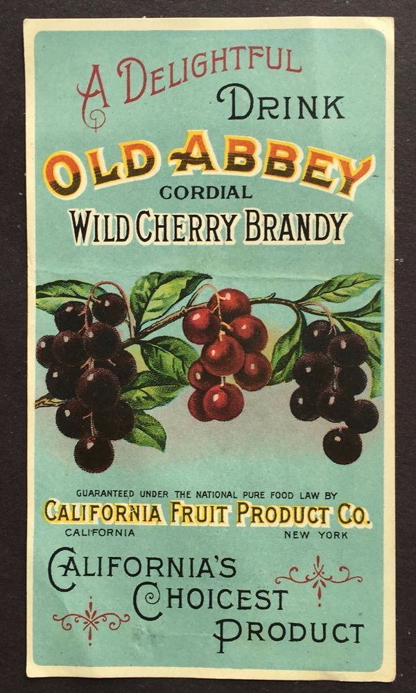 Antique Old Abbey Wild Cherry Brandy Mail Order Form Victorian - product order form