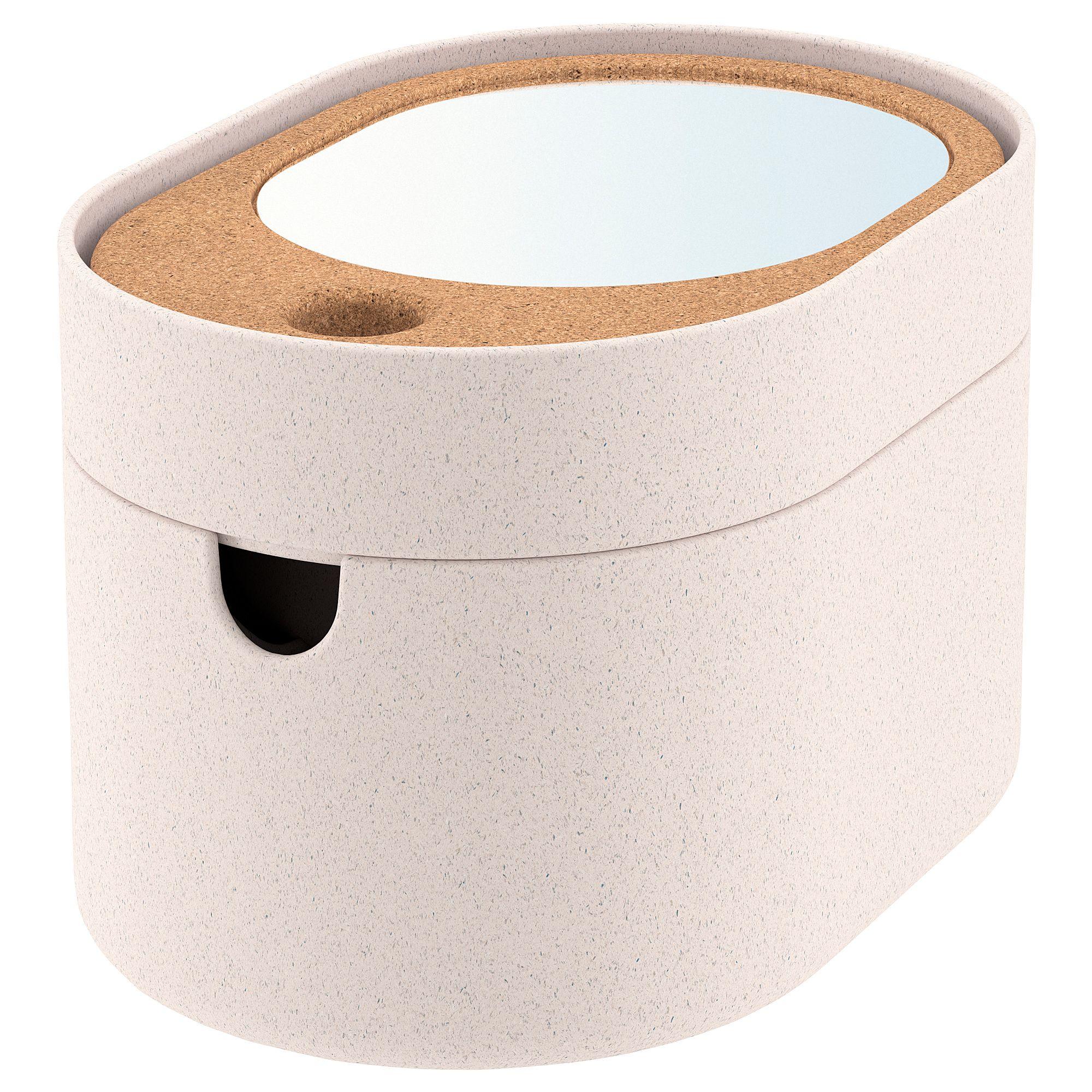 Saxborga Contenitore Coperchio A Specchio Plastica Sughero 24x17 Cm Ikea It Specchi Ikea Contenitori