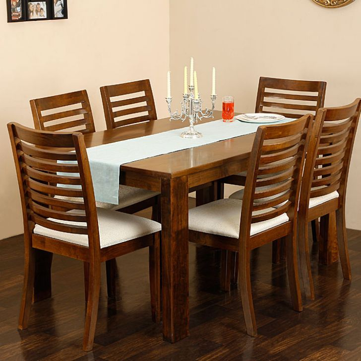 Elmwood Rocco Dining Table With Six Chairs Fabfurnish Com