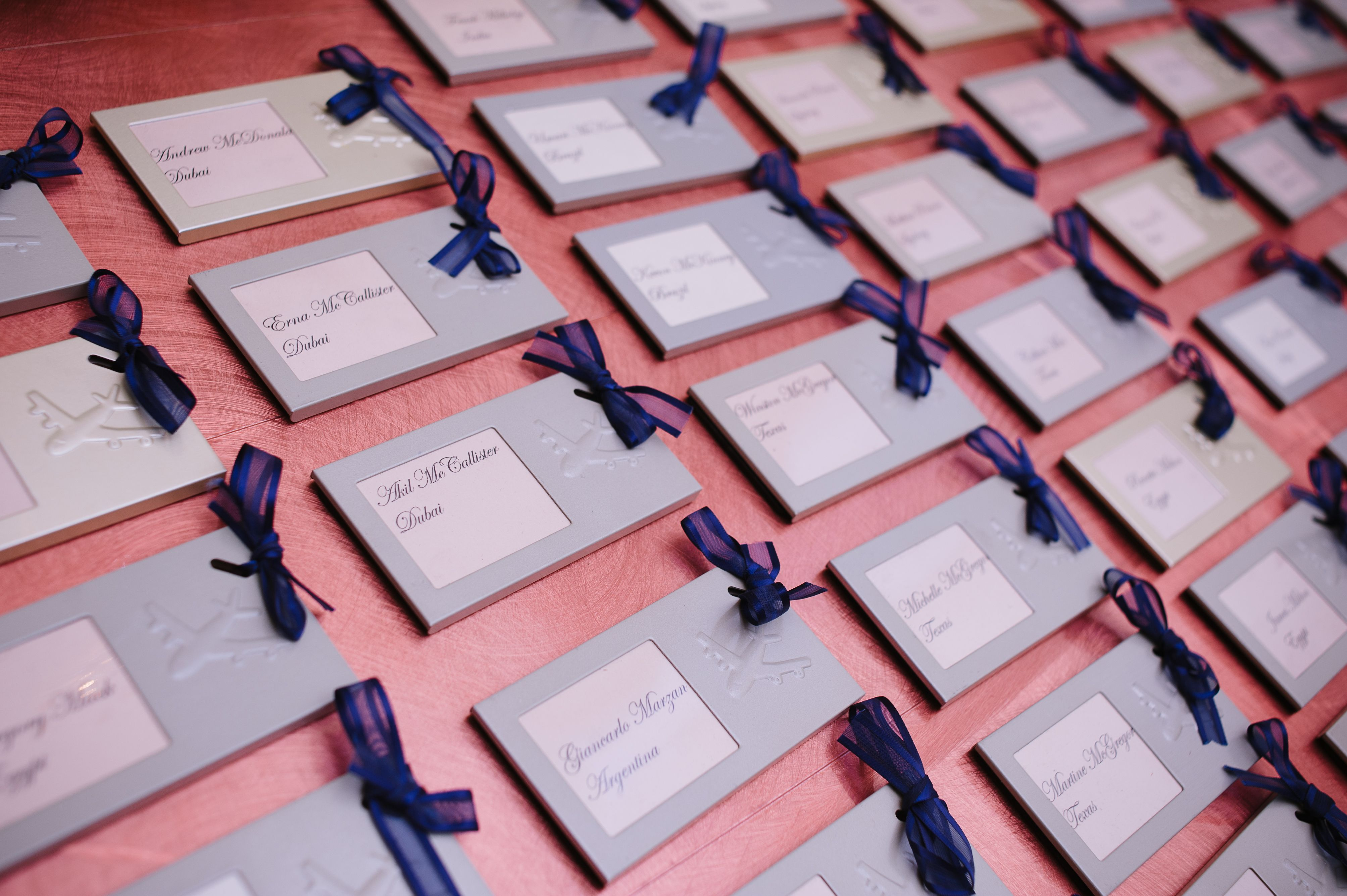 Place Cards that can be reused as frames later! #NJ #Wedding ...