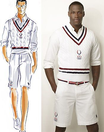 """Sports wear for some has not been that much of a change, the knee shorts and the """"vest"""" look is similar to the 1930's look."""