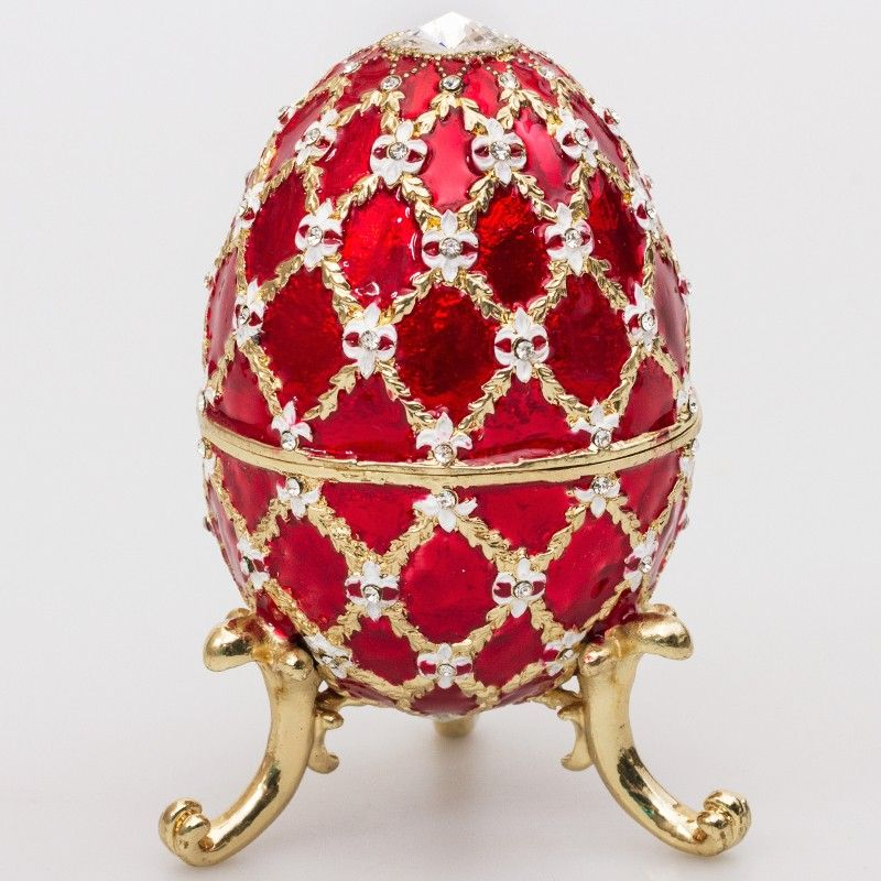 Emperor faberg style egg jewelry box red faberge style eggs emperor negle