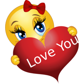 Love Smiley With A Heart Emojilove In 2020 Love Smiley Sorry Images Emoticon Love