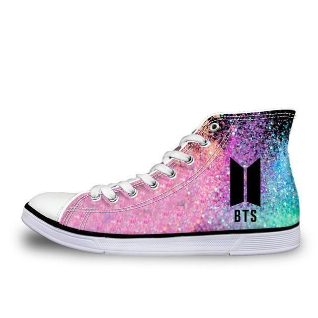 ec7603042db4 BTS Print Ladies Casual Canvas Shoes  bts  btsmerchandise  army