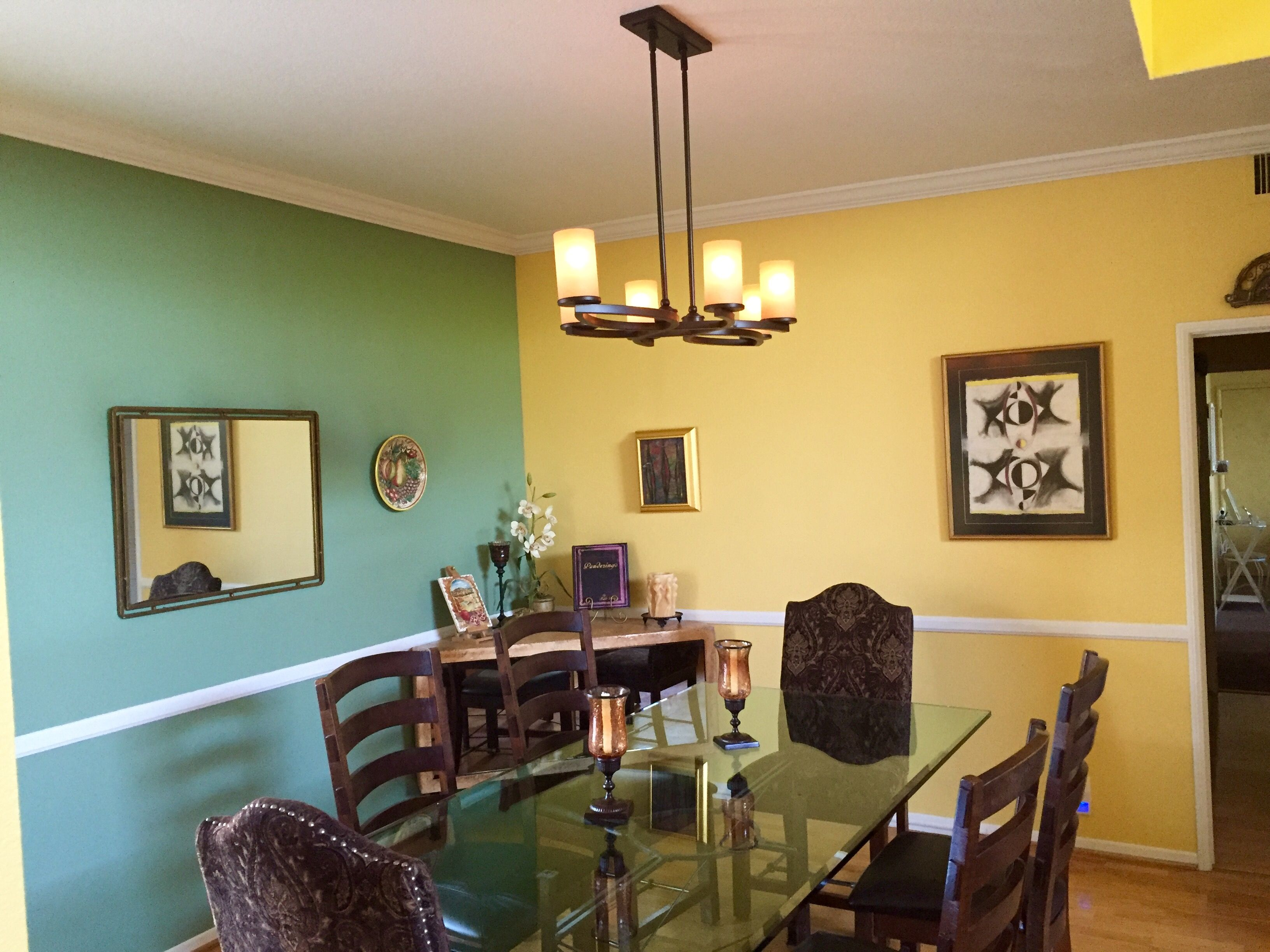 Dining Room new lighting and paint