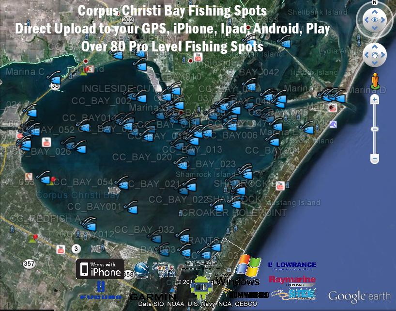 Corpus Christi Bay Fishing Map Corpus Christi