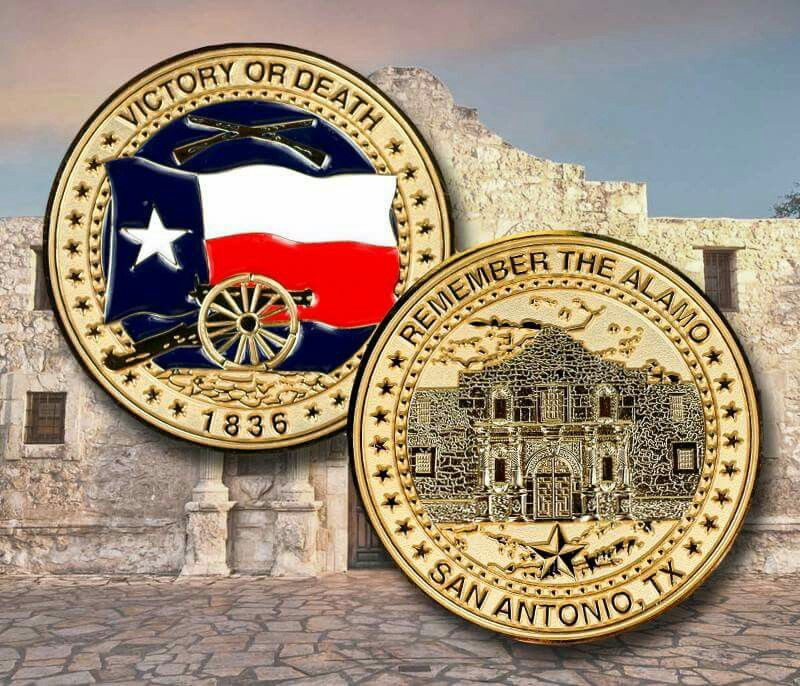 Challenge coin from the Alamo Gift shop | Texas Items