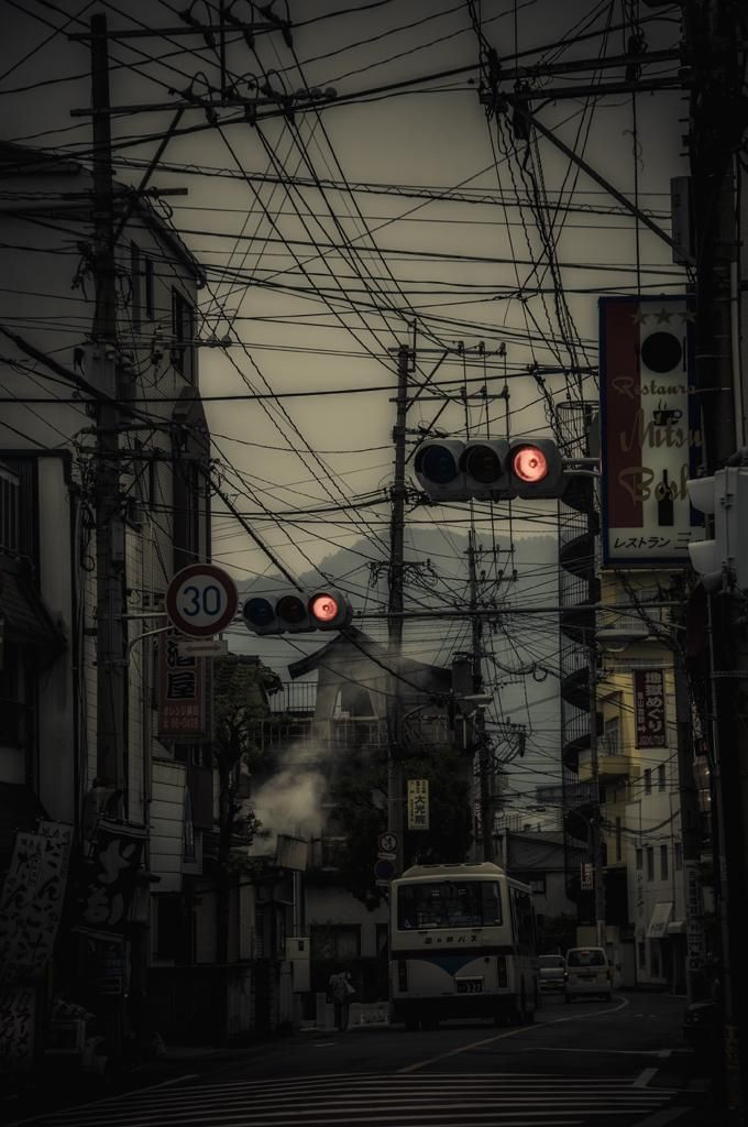 Im Pulso On Pylons In 2019 Japan Watercolor Scenery Color Photography