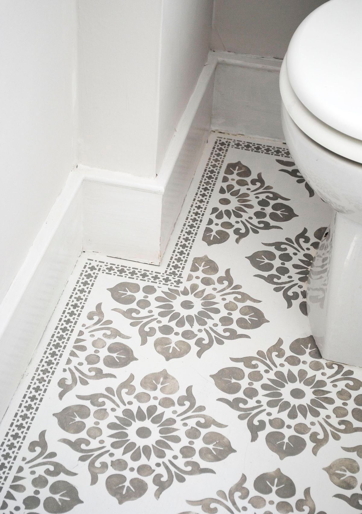 Painted Bathroom Floor Tile | Bathroom | Pinterest | Painted ...