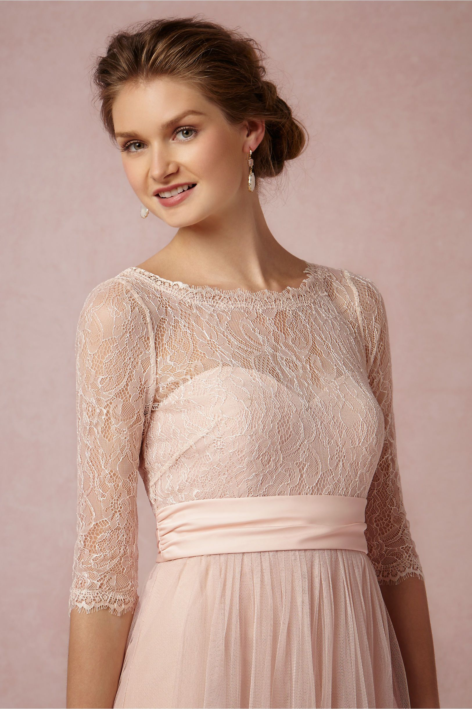 Amelie Topper in blush by Jenny Yoo, exclusively for BHLDN ...