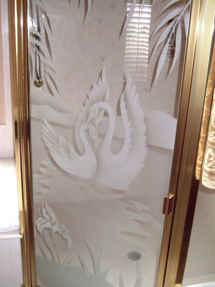 Swan Song Shower Door Glass Design
