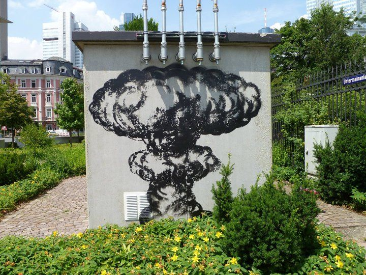 Mushroom painting #Frankfurt (by unknown)