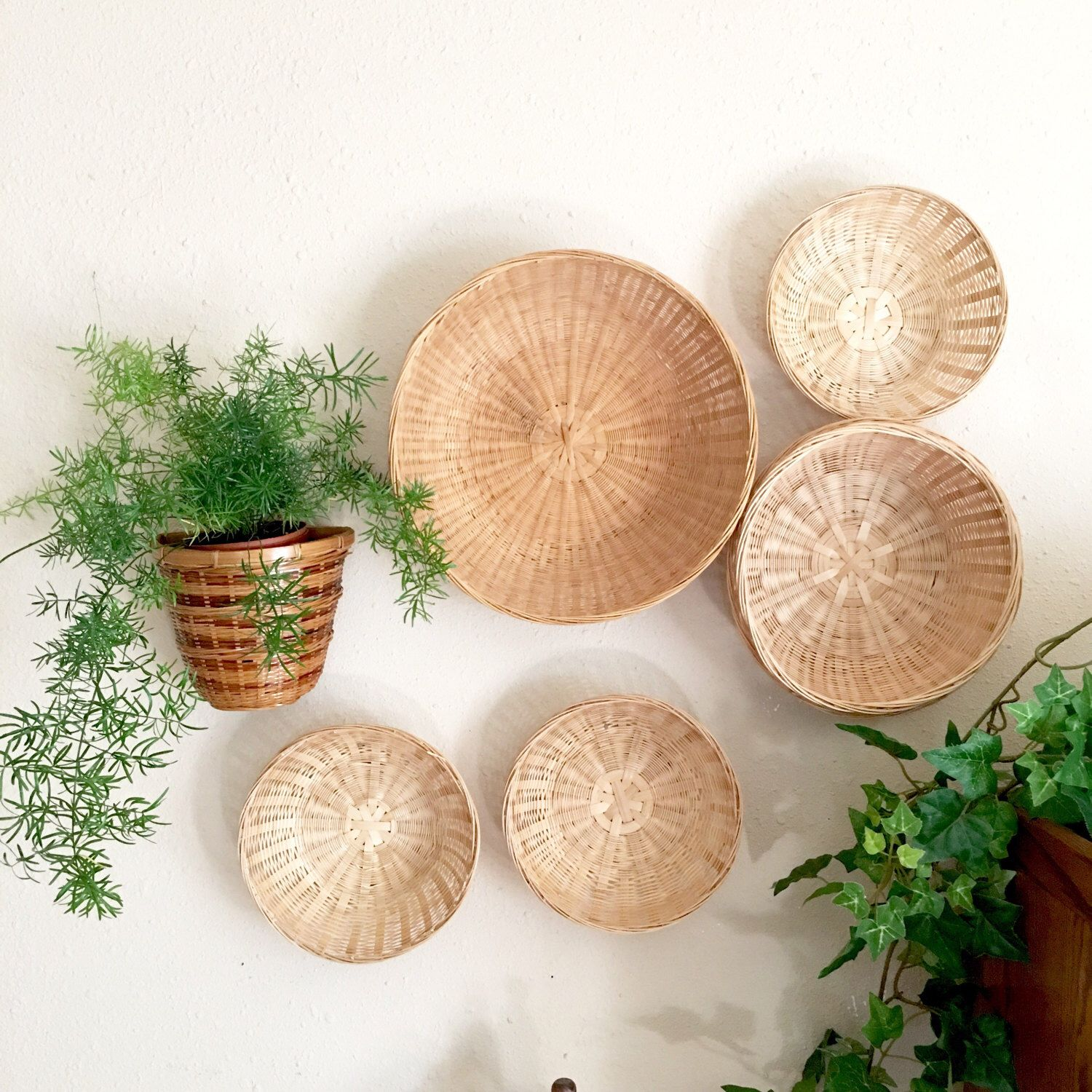 Decorative Wall Baskets a personal favorite from my etsy shop https://www.etsy/listing