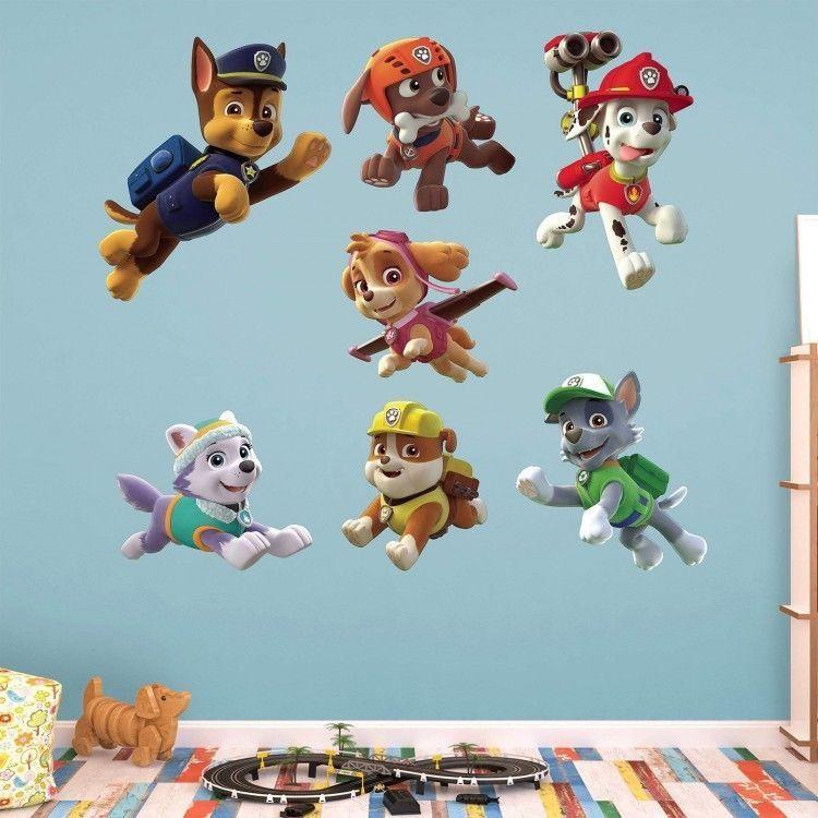 Kids Bedroom Wall Decor Paw Patrol Puppies 7 Decals Vinyl