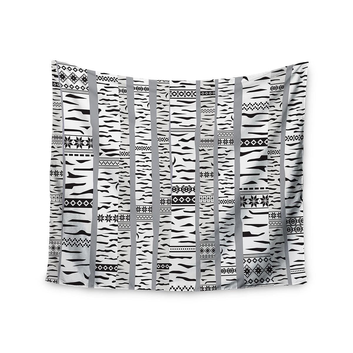 Kess InHouse Marta Olga Klara 'Birch Forest' Black White 51x60-inch Tapestry (Birch Forest) (Polyester)