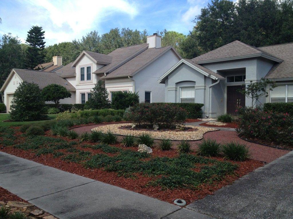 Grassless Yard in Tampa, Fl Backyard, Xeriscape