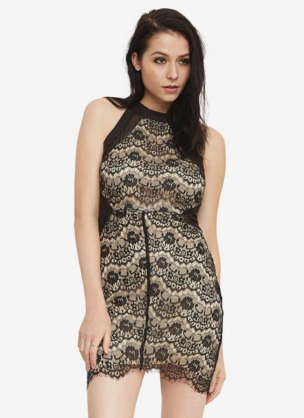 Hi-Neck Lace Dress