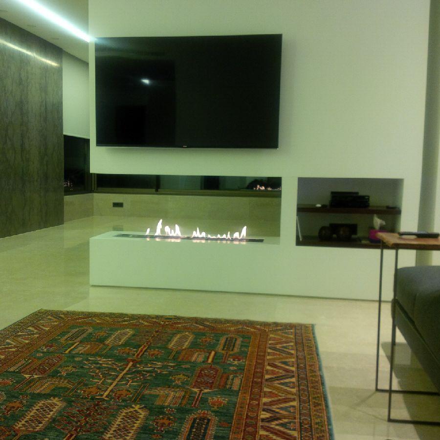 Fernseher Mit Bio Ethanol Brenner Mit Fernbedienung Http://www.a Fireplace