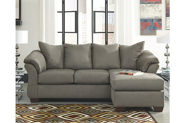Darcy Sofa Chaise By Ashley Homestore Gray Polyester
