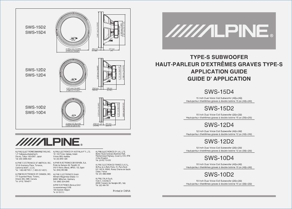 Download Alpine Sws 12d4 Owner S Manual For Free Manualagent Sws Alpine Subwoofer Wiring